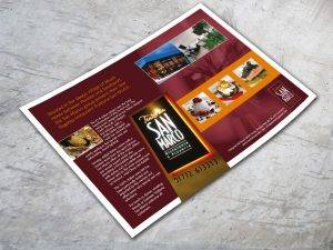 San Marco Restaurant Advert Design
