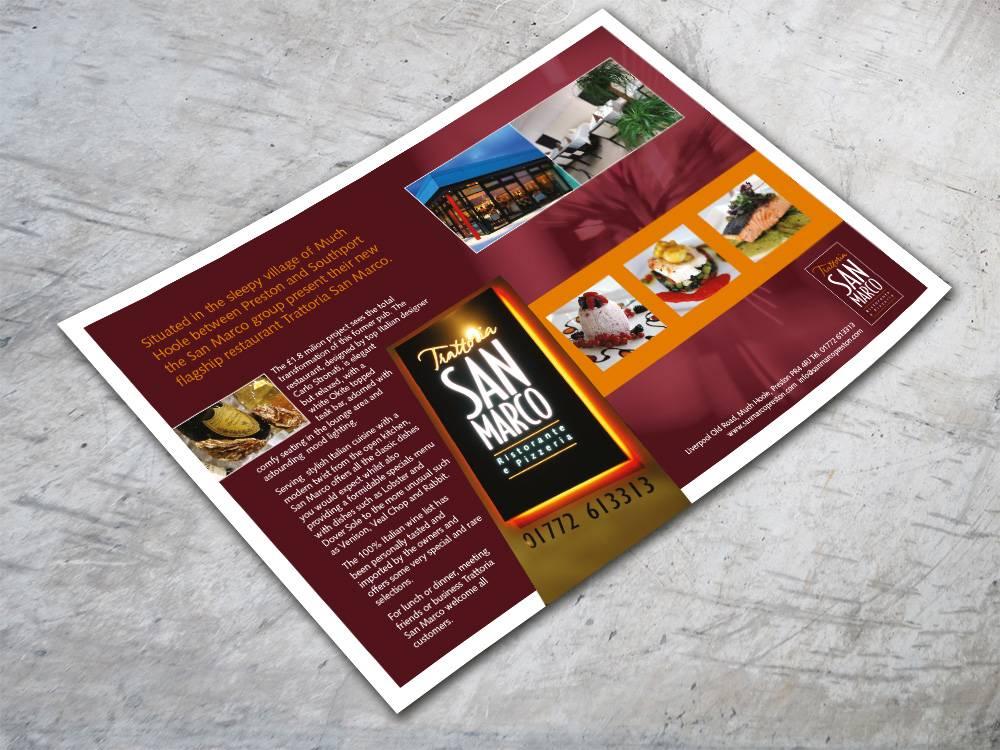 San Marco Restaurant Advert Design